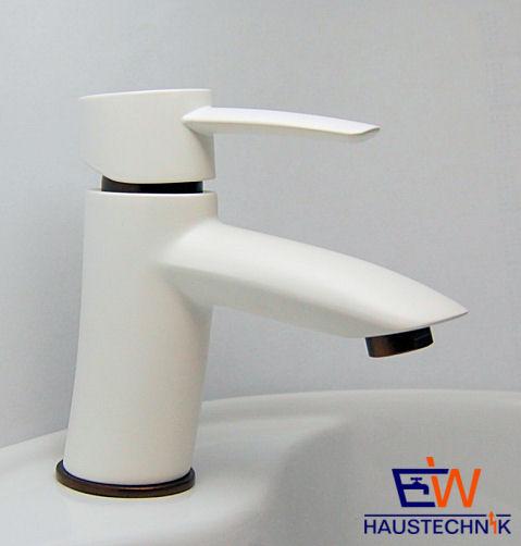 design einhebel waschtischarmatur weiss matt braun metallic mit ablaufgarnitur ebay. Black Bedroom Furniture Sets. Home Design Ideas