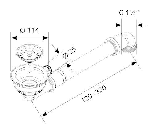 sp lenablauf sp len siebkorbventil 3 1 2 114 mm mit ablauf nach hinten und ga ebay. Black Bedroom Furniture Sets. Home Design Ideas