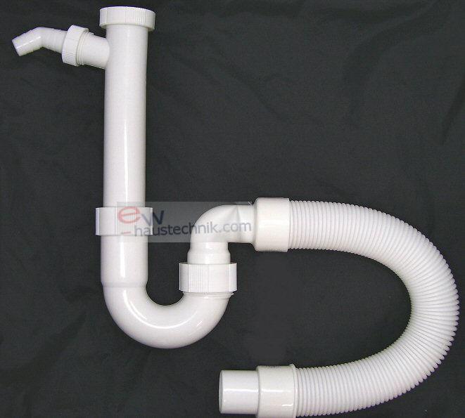 Spülen Ablaufgarnitur Siphon-Geruchsverschluß Ablaufschlauch flexibel