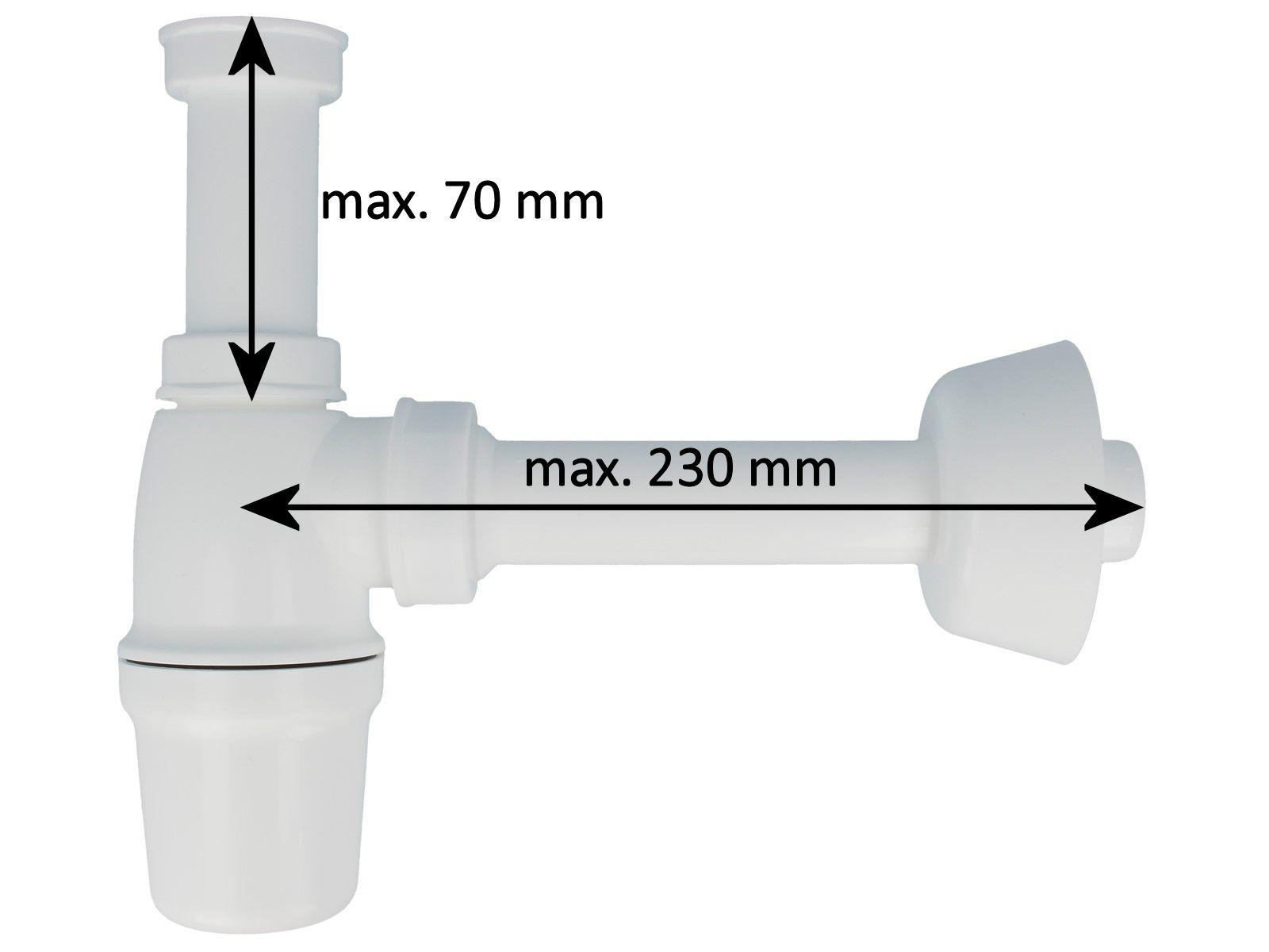 Kunststoff  Flaschensiphon Rohrgeruchsverschluss fü ~ Waschbecken Ebay