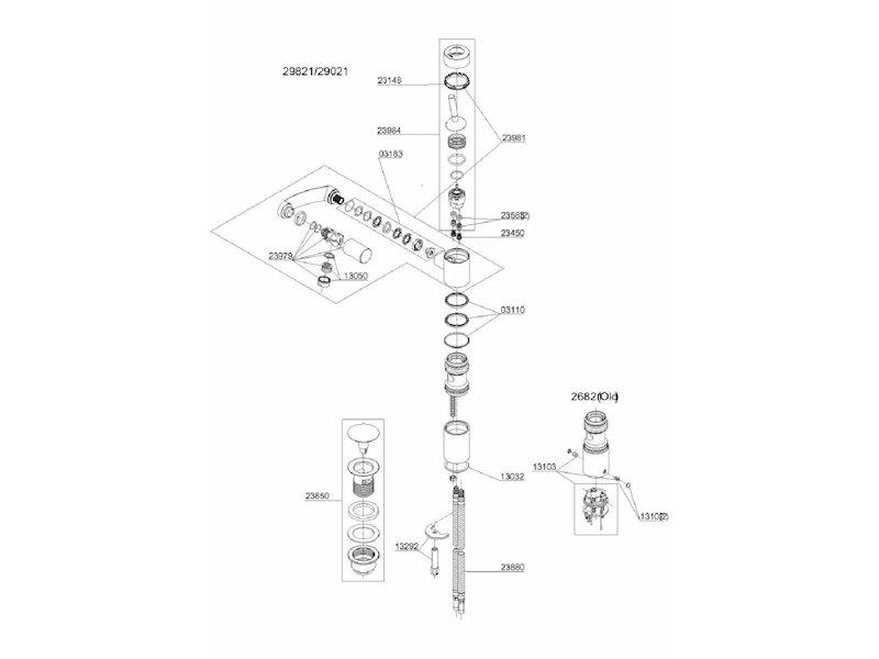 damixa kartusche dichtung service set 2398400 zu arc armatur 29000 29818 ebay. Black Bedroom Furniture Sets. Home Design Ideas